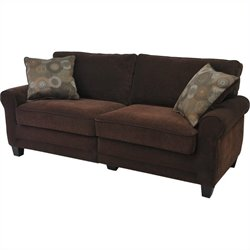 Serta Trinidad Deluxe Sofa in Chocolate Fabric