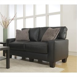 Serta Santa Rosa Love Seat in Black Bonded Leather