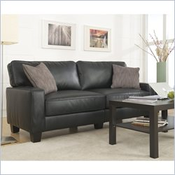 Serta Santa Rosa Sofa in Black Bonded Leather