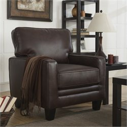 Serta RTA Monaco Bonded Leather Accent Chair in Brown