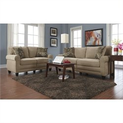 Serta RTA Copenhagen 2 Piece Fabric Sofa Set in Vanity