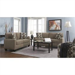 Serta RTA Santa Cruz 2 Piece Fabric Sofa Set in Platinum