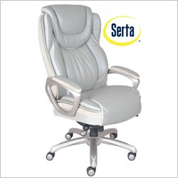 Serta by True Innovations Big and Tall Smart Layers Executive Office Chair in Serenity Gray