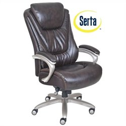 Serta by True Innovations Big and Tall Smart Layers Executive Office Chair in Harmony Coffee