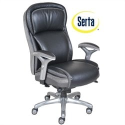 Serta Ergonomic High Back Leather Manager Office Chair in Black
