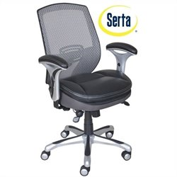 Serta by True Innovations Smart Layers Task Office Chair in Bliss Black