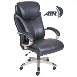 Serta by True Innovations Big and Tall Wellness by Design Executive Leather Office Chair in Black