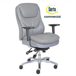 Serta at Home Smart Layers Commercial Series 600 Task Office Chair in Grey
