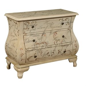 MER-1242 3 Drawer Hand Painted Bombe Chest
