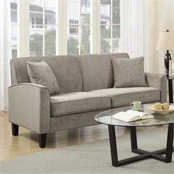 PRI Knife Edge Sofa in Taupe Gray