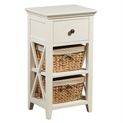 PRI 2 Basket Storage Rack in White