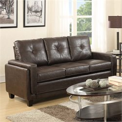PRI Modern Leather Sofa in Chocolate