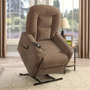PRI Upholstered Lift Chair in Raider Mocha Brown