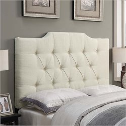 MER-1242 Saddle Back Button Tufted Headboard in Beige
