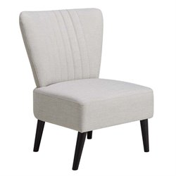 MER-1242 Channeled Back Armless Accent Chair