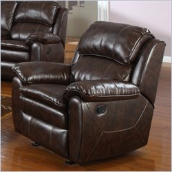PRI Dillon Glider Recliner in Dark Brown