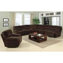 PRI Walcott Glider Recliner in Rhino Sectional in Beluga
