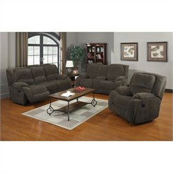 PRI Caesar 3 Piece Sofa Set in Nimbus Seal