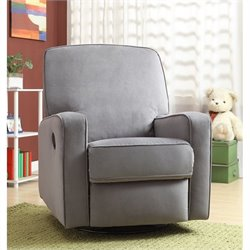 PRI Sutton Swivel Glider Recliner Stella Zen Grey