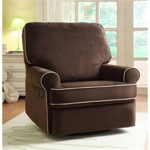 PRI Birch Hill Fabirc Swivel Glider Recliner