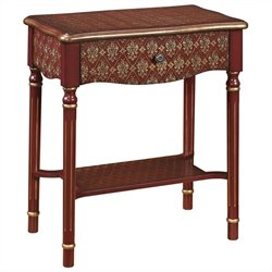 PRI Drawer Accent Table in Brick