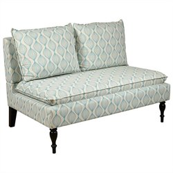 PRI Living Room Bench in Cream and Blue