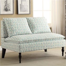 PRI Banquette Upholstered Chair in Blue