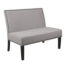 PRI Fabric Living Room Bench in Grey