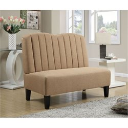 PRI Fabric Living Room Bench in Honey