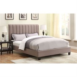 PRI Queen Platform Bed in Sterling Taupe