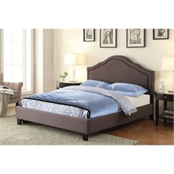 PRI Queen Platform Bed in Trespass Slate