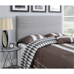 PRI Upholstered Headboard in Silver - Full/Queen