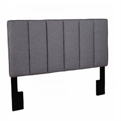 PRI Panel Headboard in Gray - Full/Queen