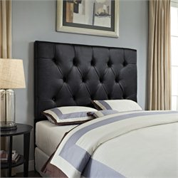 PRI Tufted Panal Headboard in Brown - Full/Queen