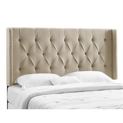 PRI Tufted Panel Headboard California King/King in Taupe