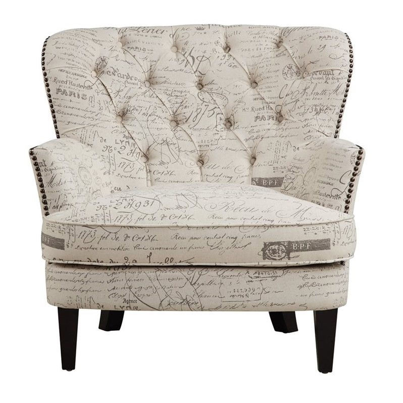 accent chairs for living room philippines armchairs upholstered arm chair script beige clearance