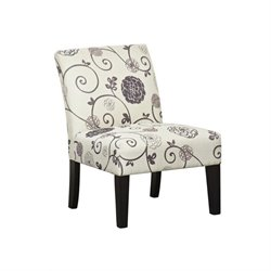 PRI Accent Chair in Swirl Floral