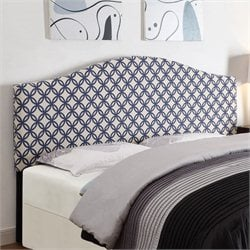 PRI Fabric Upholstered Headboard in Navy - King-California King