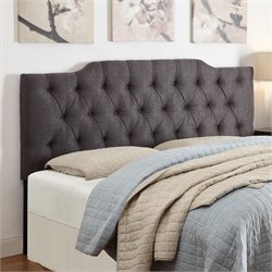 PRI Tufted Upholstered Headboard in Anthracite - King-California King