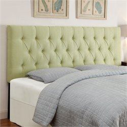 PRI Tufted Upholstered Headboard in Lime - Full-Queen