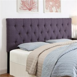 PRI Tufted Upholstered Headboard in Purple - Full-Queen