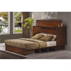 Arason Creden-ZzZ Cabinet Bed in Traditional Pekoe - Full Size