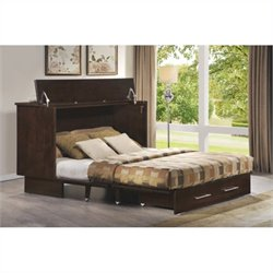 Arason Enterprises Creden-ZzZ Cabinet Bed in Original Coffee - Twin Size