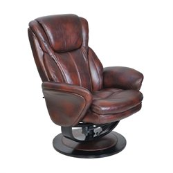 Barcalounger Roma II Pedestal Recliner in Salon Saddle