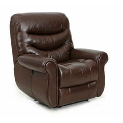 Barcalounger Dandridge II Power Recliner in Yadkin Bark Leather Split