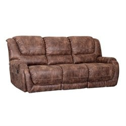 Barcalounger Vincent II Power Reclining Sofa in Ford Chestnut