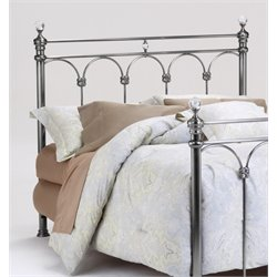 Bernards Athena Queen Poster Spindle Headboard in Nickel