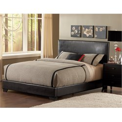 Bernards Duncan Faux Leather Upholstered Queen Bed