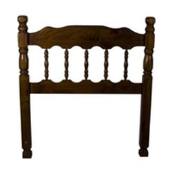 Bernards Full Queen Spindle Headboard in Dark Pine