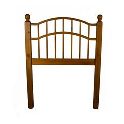 Bernards Twin Double Arch Spindle Headboard in Pine